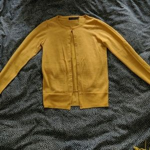 The Limited Mustard Yellow Acrylic/Wool Cardigan